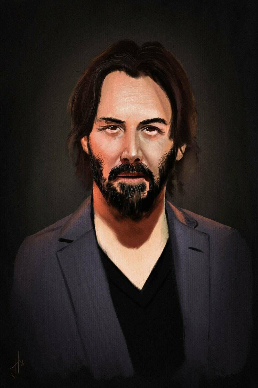 Keanu Reeves Art Print