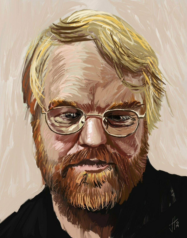 Philip Seymour Hoffman Portrait Print