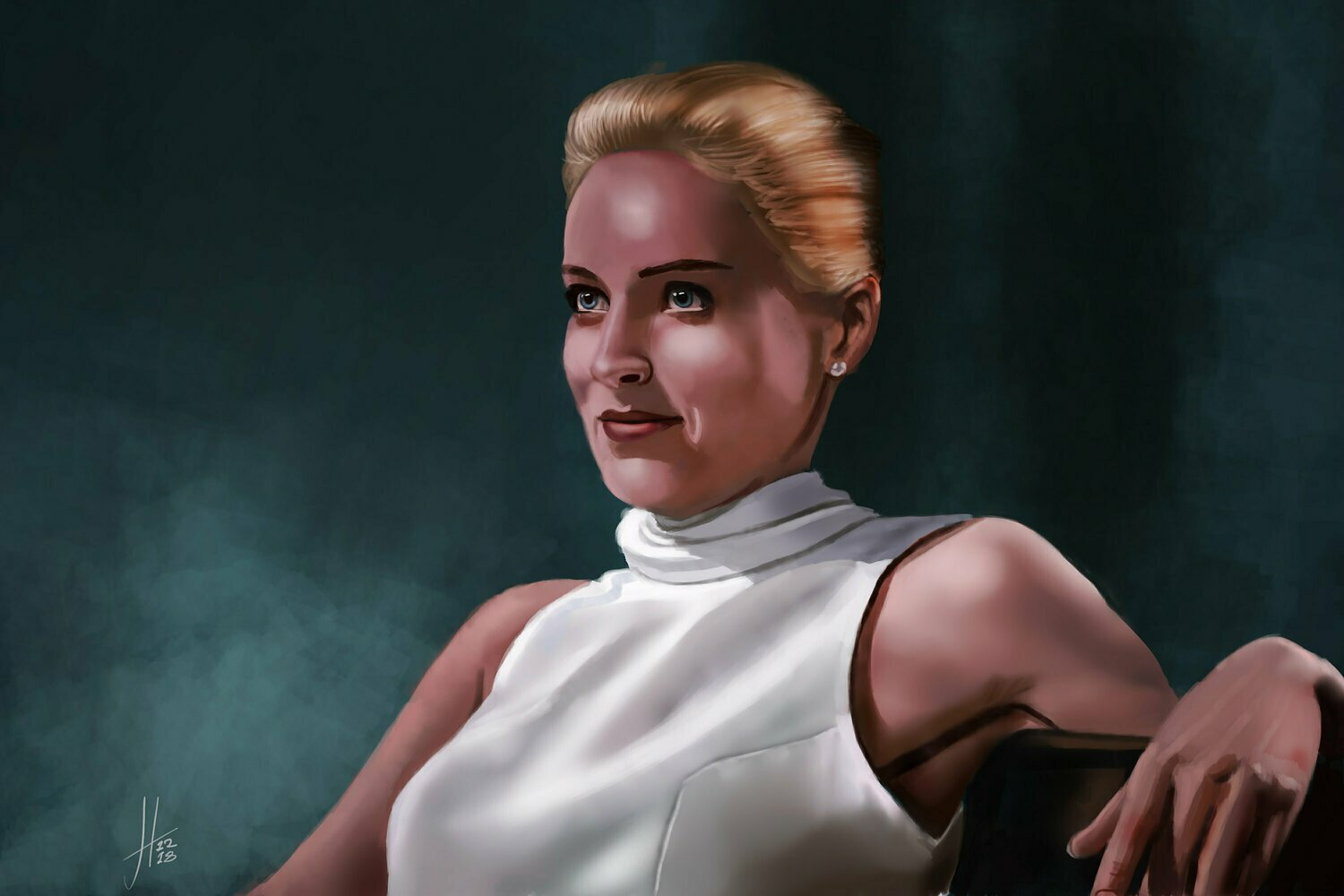 Basic Instinct Sharon Stone Art Print