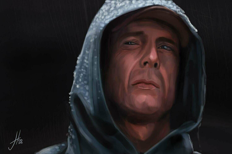 Unbreakable Bruce Willis Art Print