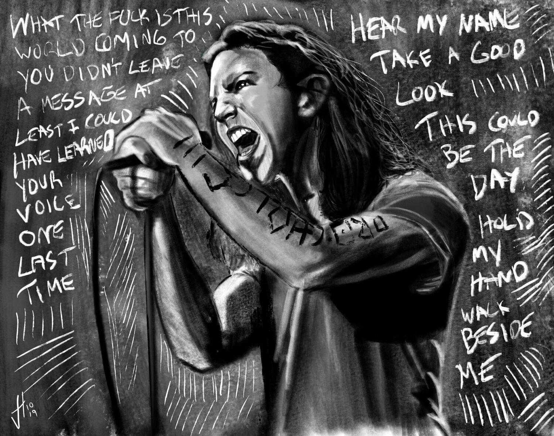Eddie Vedder Art Print