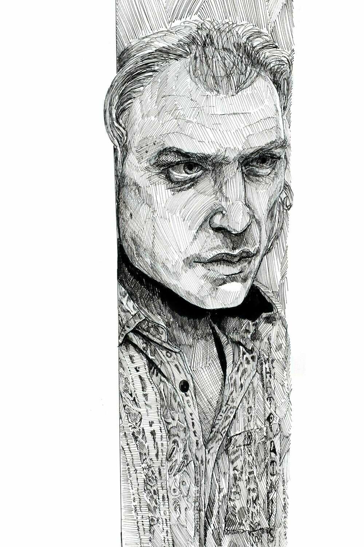Buffalo Bill Pen and Ink Drawing Print