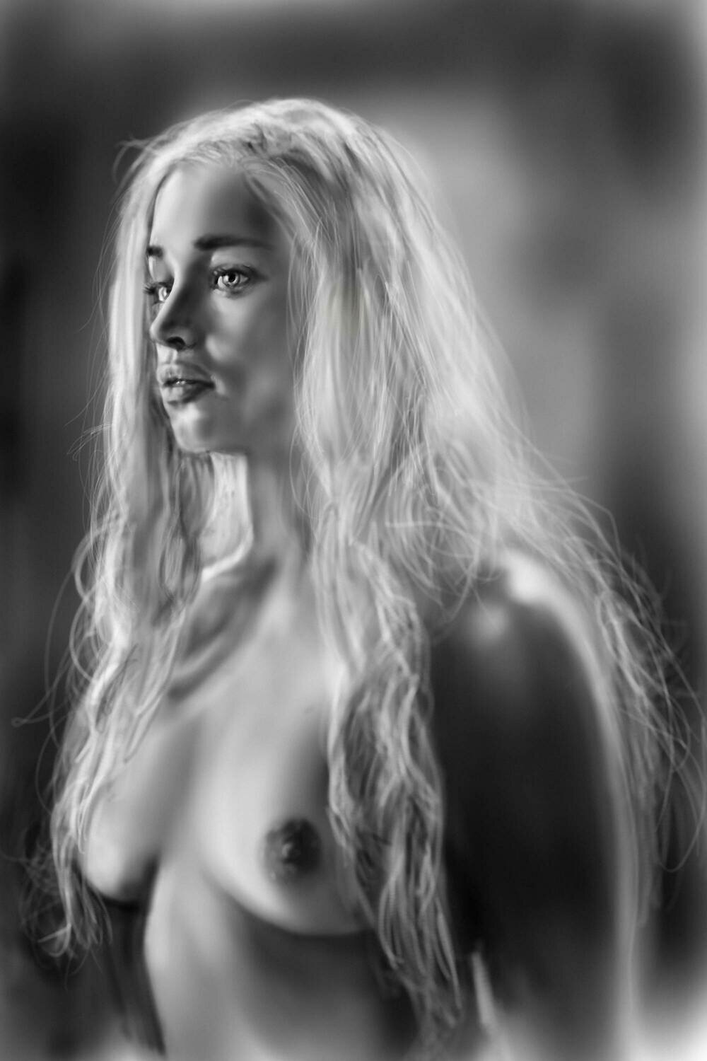 NSFW Daenerys Targaryen Game of Thrones Art Print