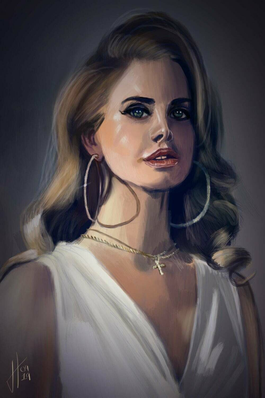 Lana Del Rey Portrait Print