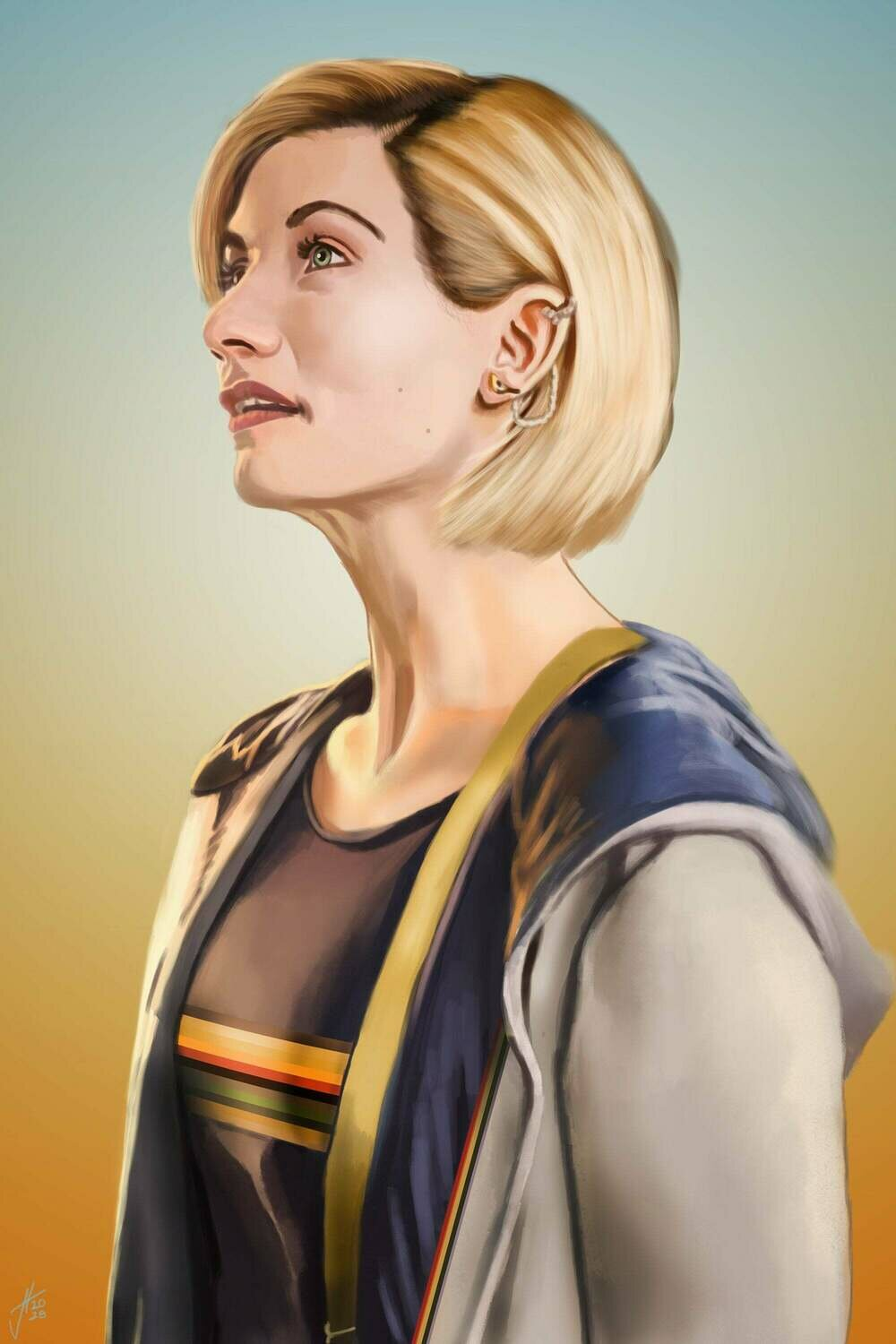 Doctor Who Jodie Whittaker Portrait Art Print