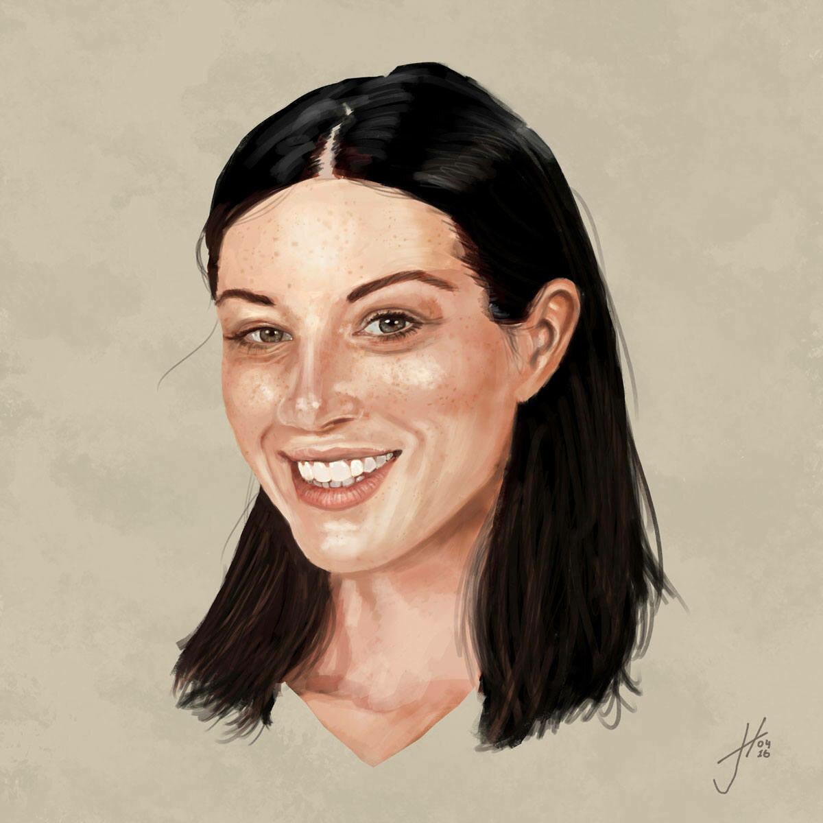 Stoya Portrait Art Print