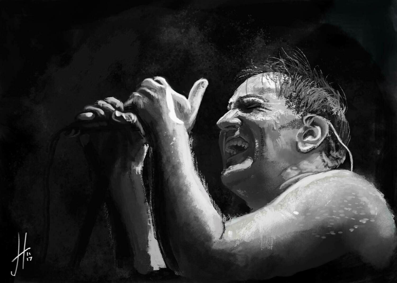 Nine Inch Nails Trent Reznor art print