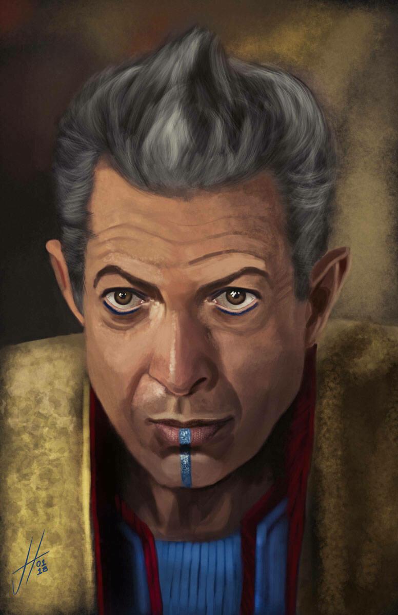 Jeff Goldblum Thor Art Print