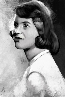 Sylvia Plath Portrait Art Print