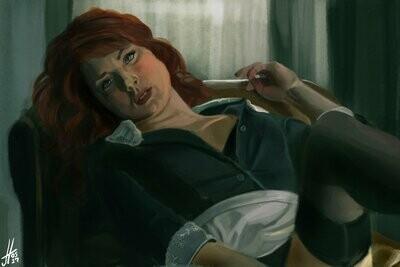 American Horror Story Moira Art Print