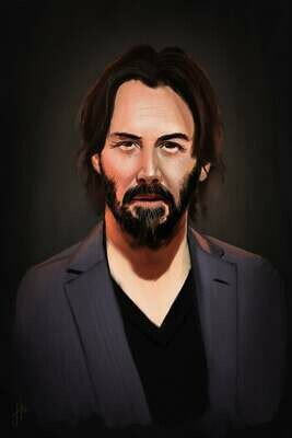 Keanu Reeves Art Print