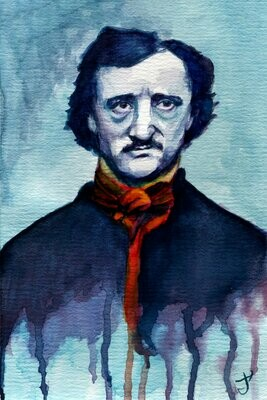 Edgar Allan Poe Watercolor Art Print