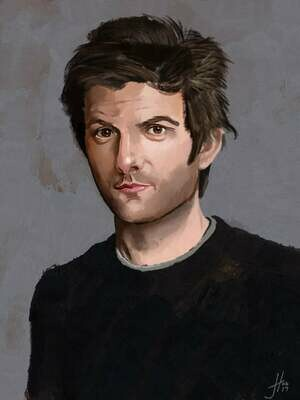 Adam Scott art print