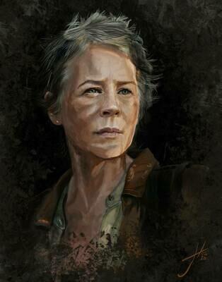 The Walking Dead Carol Art Print