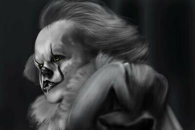 Pennywise the Dancing Clown Stephen King's It Art Print