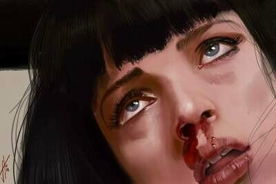Pulp Fiction Art Print Uma Thurman Mia Walace