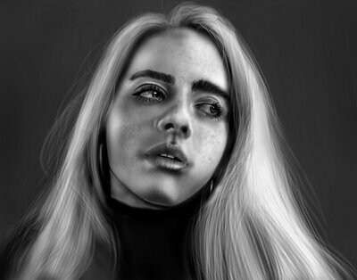 Billie Eilish Portrait Art Print