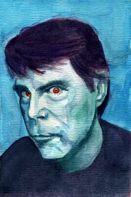 Stephen King Watercolor Art Print