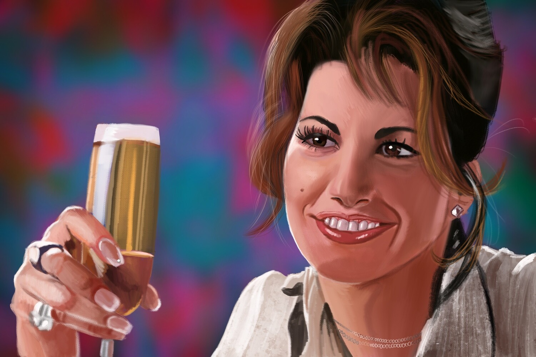 Gina Gershon Showgirls Portrait Print