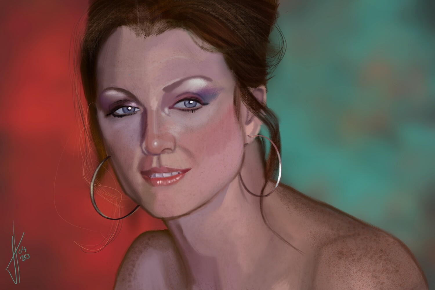 Julianne Moore Boogie Nights Portrait Print