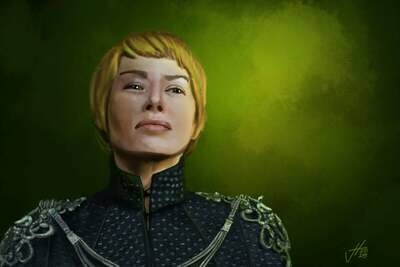 Cersei Lanninster Game of Thrones Portrait Print Lena Headey