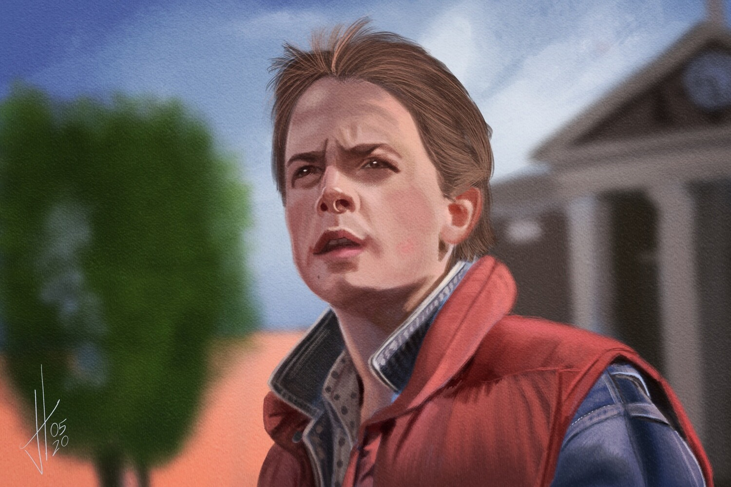 Marty McFly Back to the Future Art Print Michael J Fox