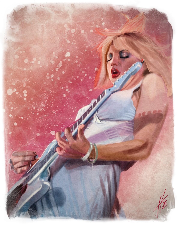 Courtney Love Portrait Art Print