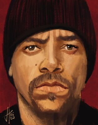 Ice T Portrait Art Print