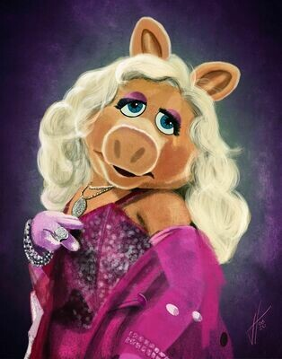 Miss Piggy Muppet art print