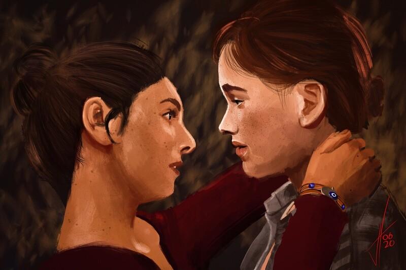 Last of Us Part 2 Ellie and Dina Print