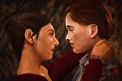 Last of Us Part 2 Ellie and Dina Print