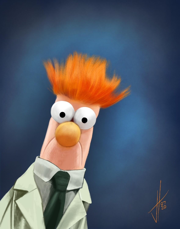 Beaker Muppet art print