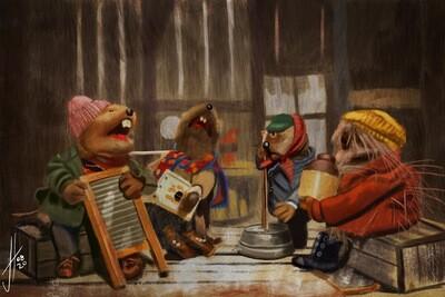Emmet Otter's Jug Band art print