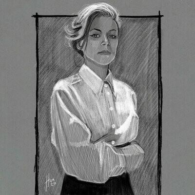 Tatiana Maslany Portrait Art Print
