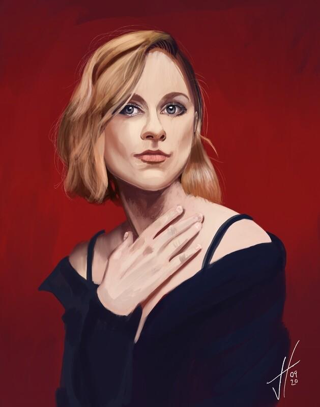 Evan Rachel Wood Art Print