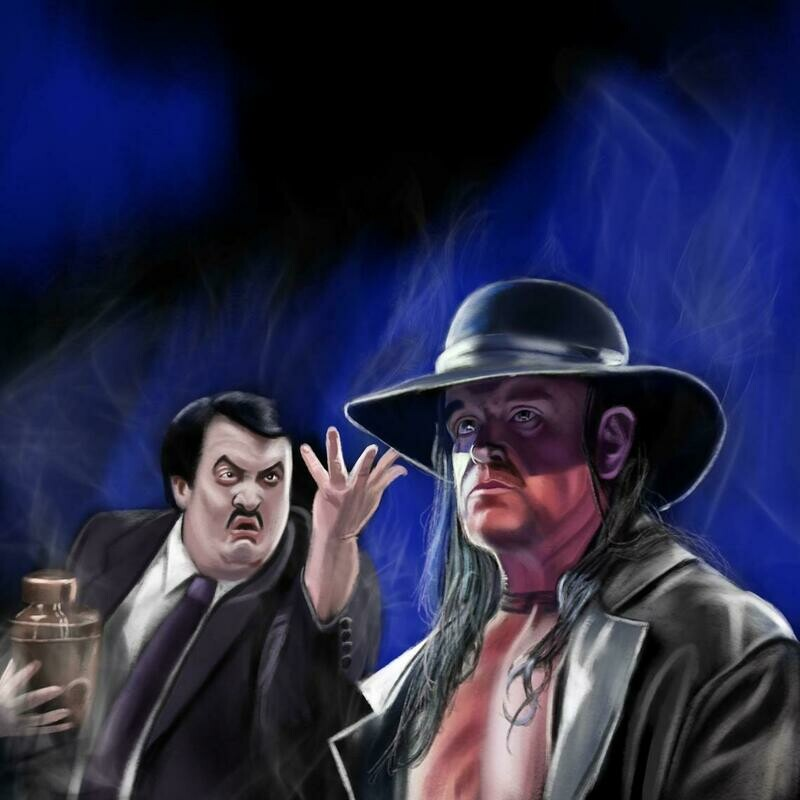 The Undertaker WWE Art Print