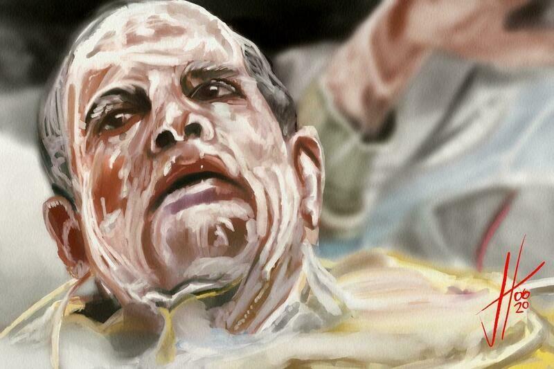 Alien Ash Ian Holme Art Print
