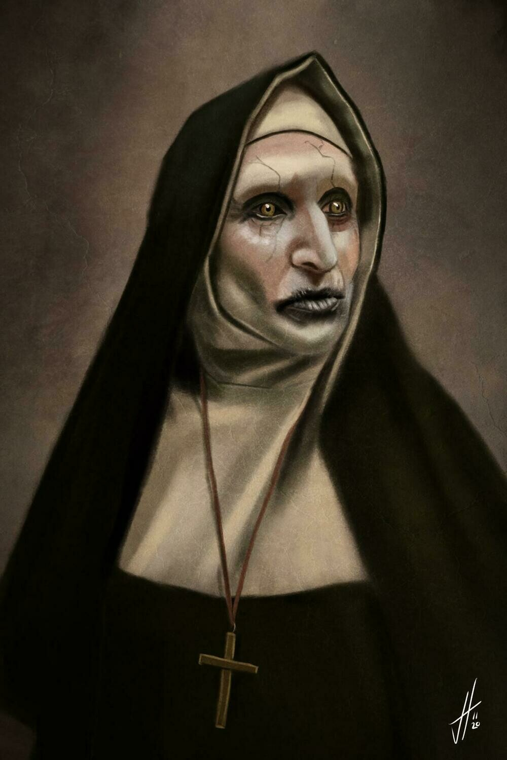 Valek The Nun The Conjuring Art Print