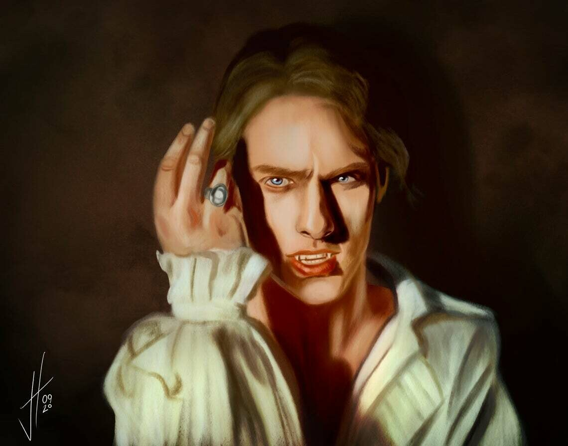 Interview With the Vampire Lestat Tom Cruise Art Print