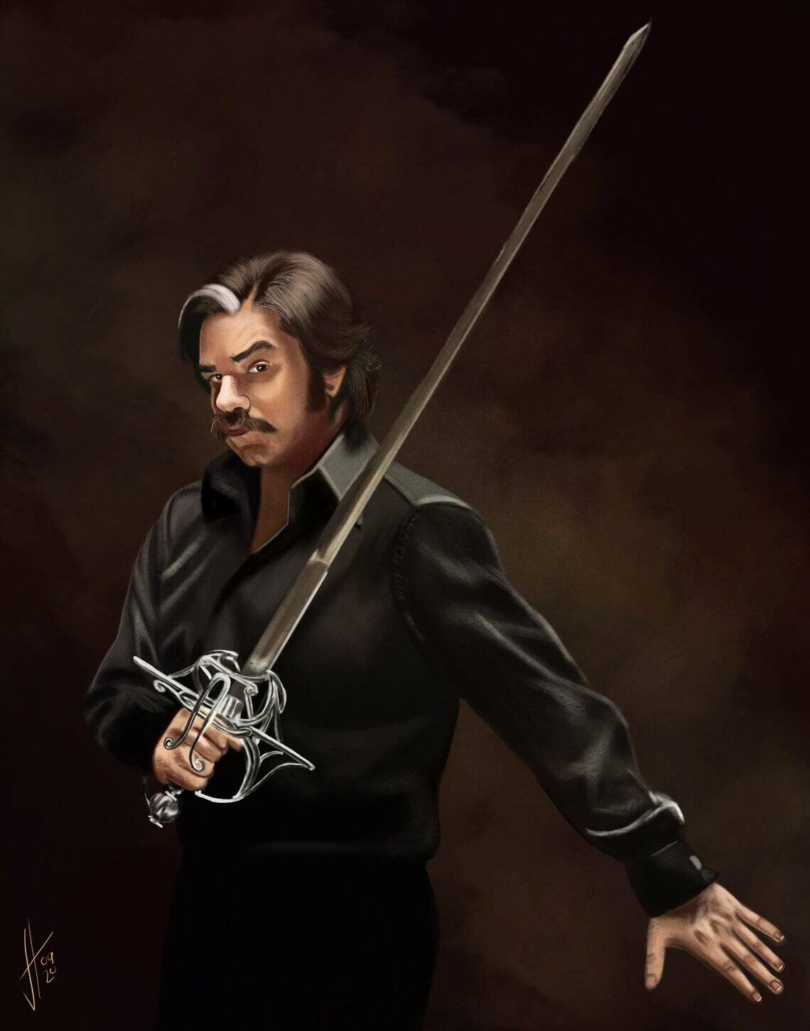 Toast of London Steven Toast Matt Berry art print