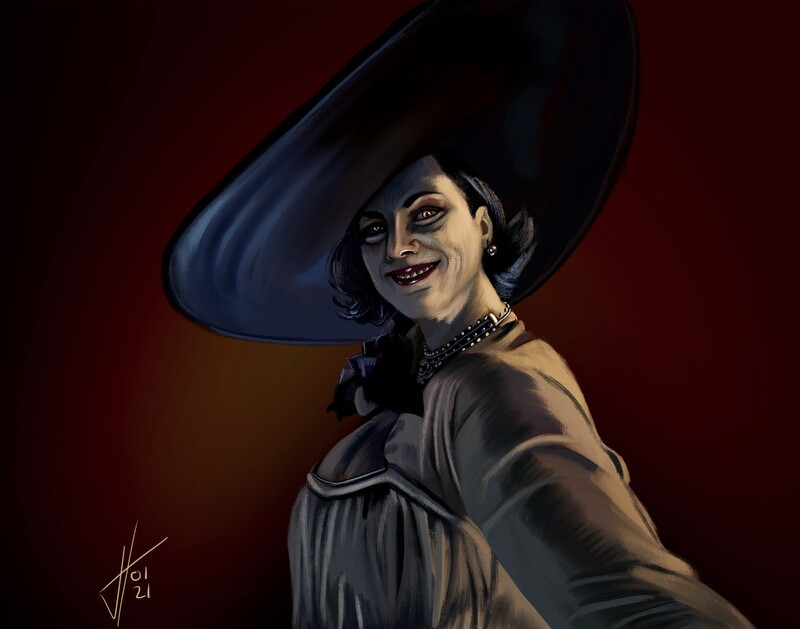 Resident Evil: The Village Lady Dimitrescu Print