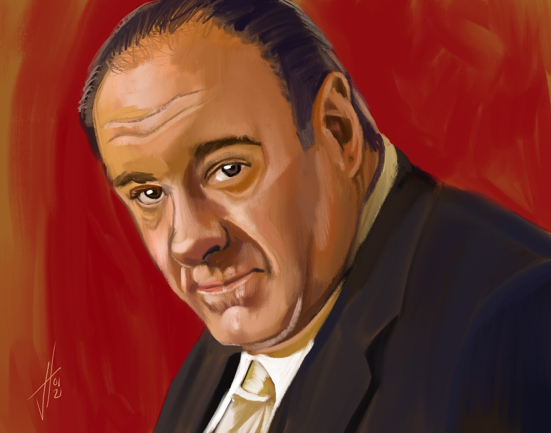 Tony Soprano James Gandolfini Print