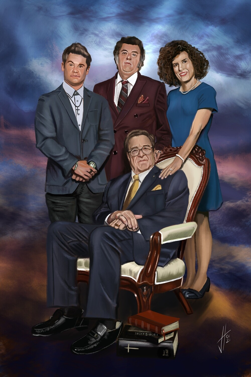 The Righteous Gemstones Print