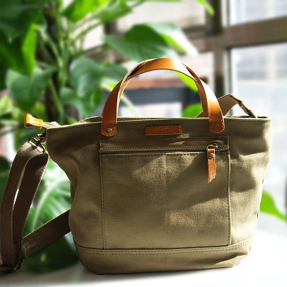 Canvas Tote Bag Olive Green