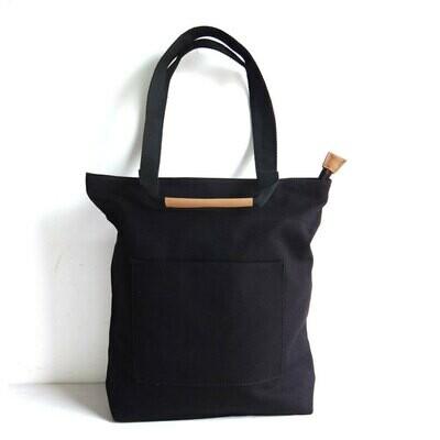 Black Canvas Tote Bag