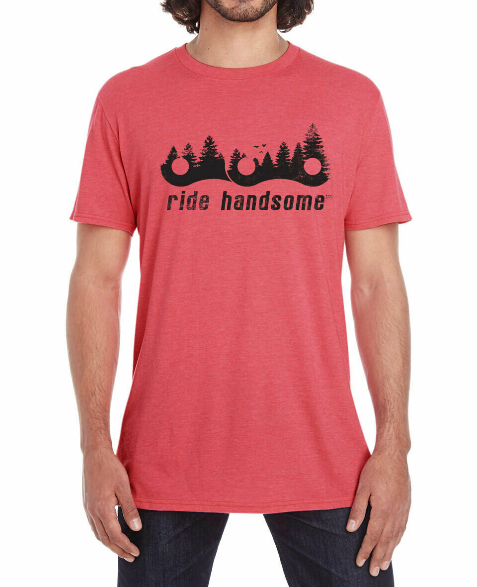 Ride Handsome Forest Tee - Coral Red
