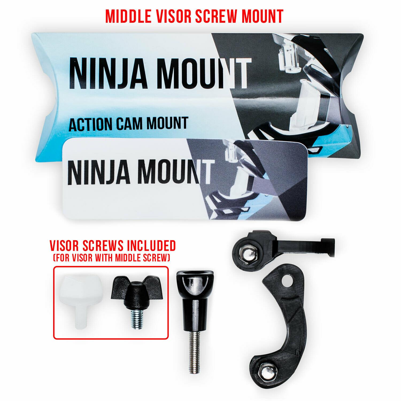 Screw Mount-NINJA MOUNT – the Action Cam Mount for Fullface Helmets