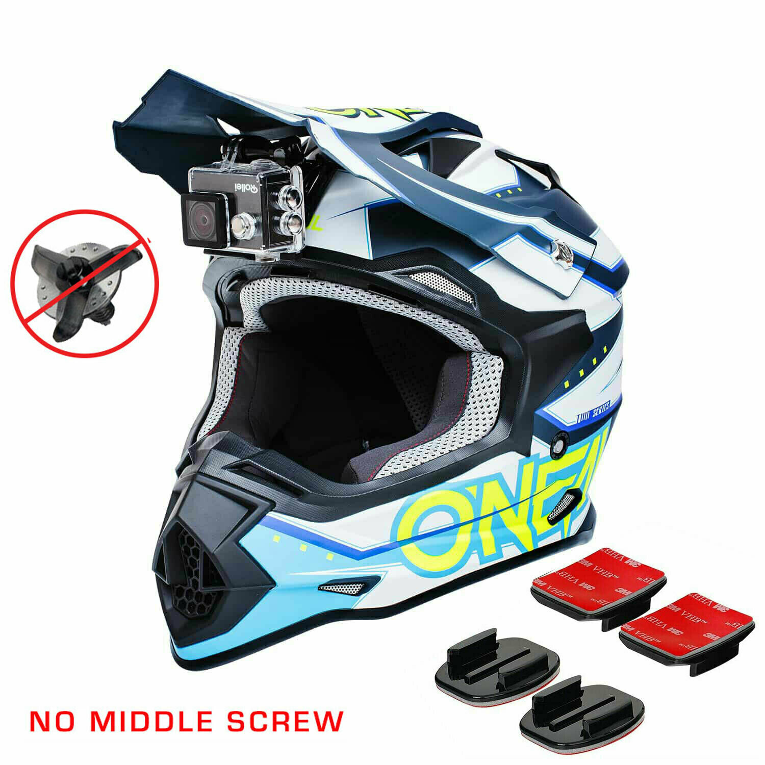 Universal Sticky Mount-NINJA MOUNT (For Helmets WITHOUT a middle screw under the visor)