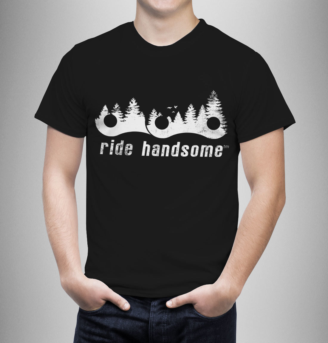 Ride Handsome Forest Tee - Black