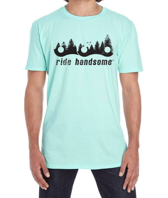 Ride Handsome Forest Tee - Ice Teal